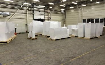 упаковка в термоусадочную пленку крупногабаритных грузов